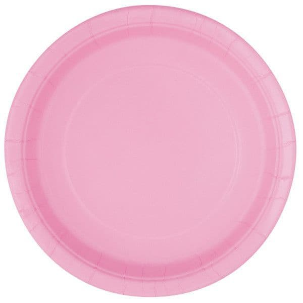 Lovely Pink Large Paper Plates
