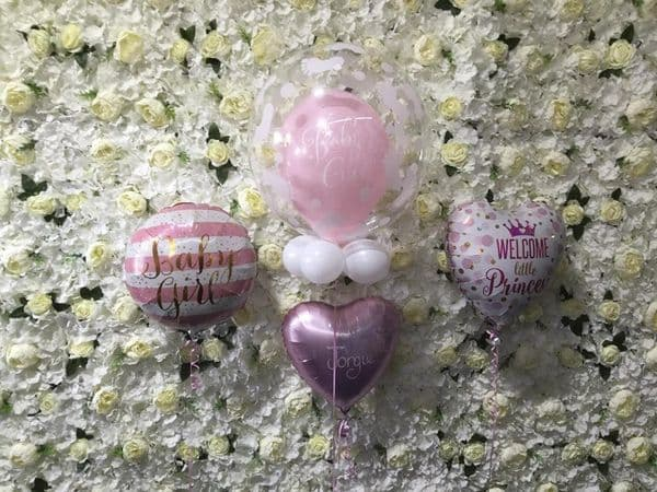 New Baby Deco Bubble and Foil Balloon Set