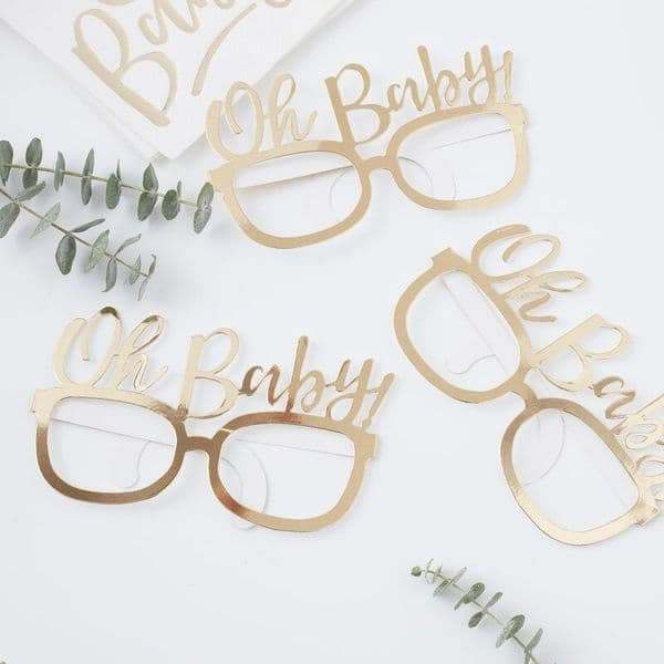 Oh Baby! Glasses Photo Booth Props