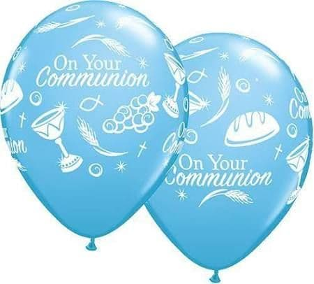 On your Communion Blue Latex