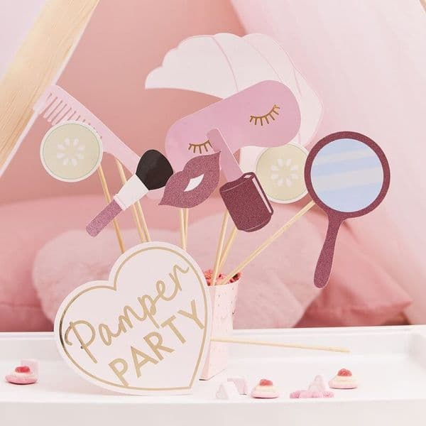 Pamper Party Photo Props