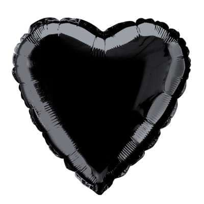 Personalised Black Heart Balloon