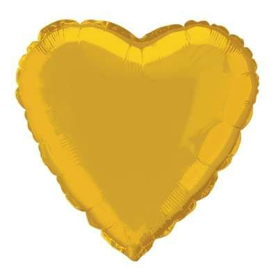 Personalised Gold Heart Balloon