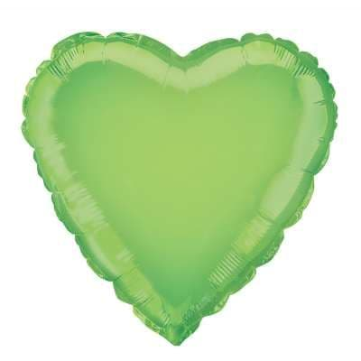 Personalised Lime Green Heart Balloon
