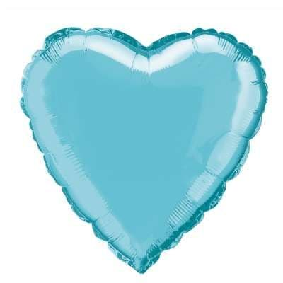 Personalised Pale Blue Heart Balloon
