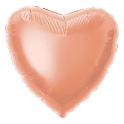 Personalised Rose Gold Heart Balloon