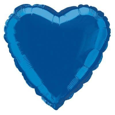 Personalised Royal Blue Heart Balloon