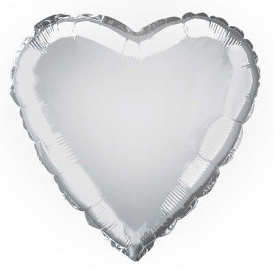 Personalised Silver Heart Balloon