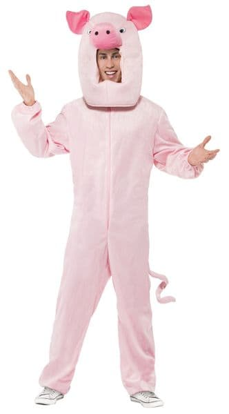 Pig Jumpsuit with Hood