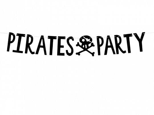 Pirates Party Letter Banner