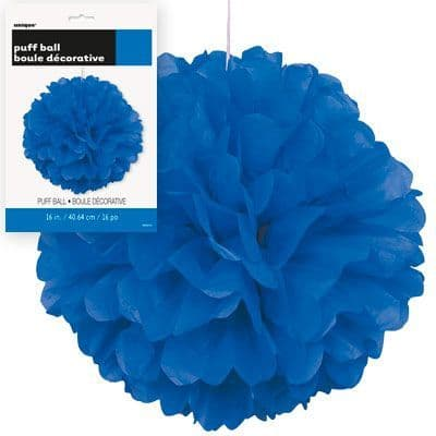 Puff Ball Lime Royal Blue