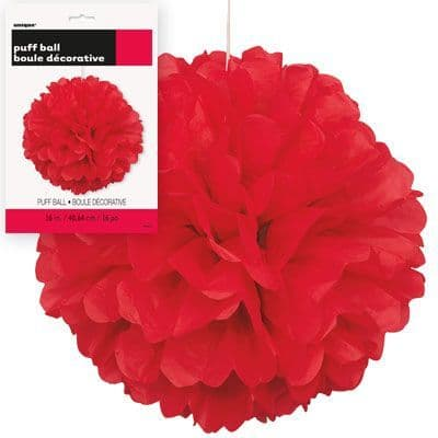 Puff Ball Red