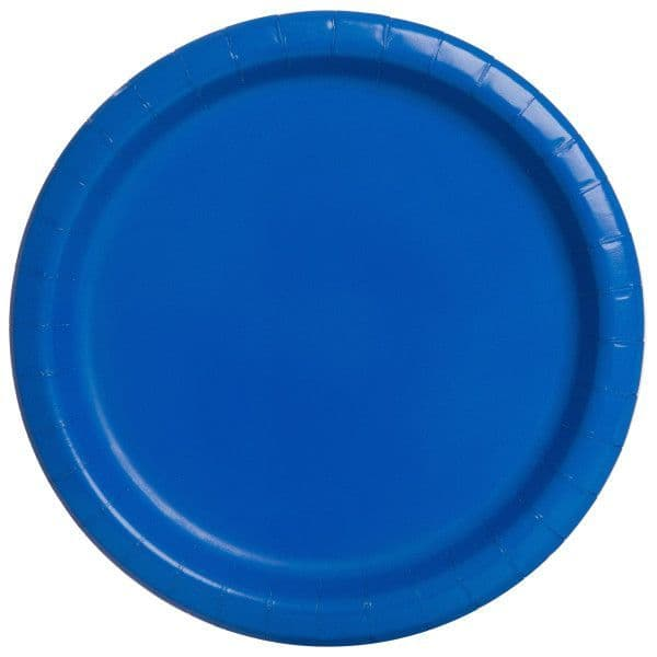 Royal Blue Small Paper Plates