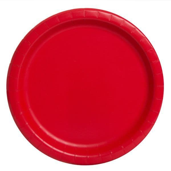 Ruby Red Small Paper Plates