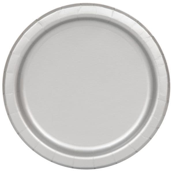 Silver Large Paper Plates