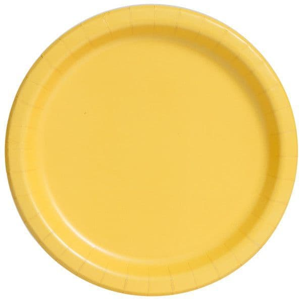 Sunflower Yellow Large Paper Plates