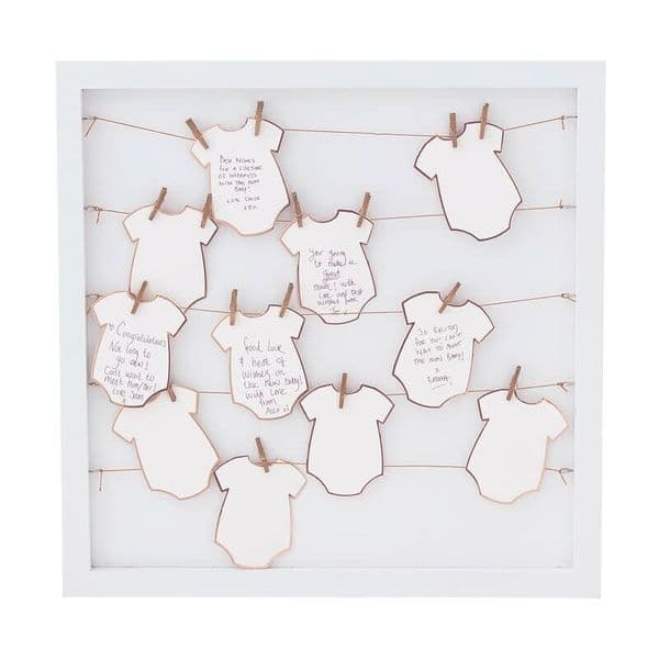 Twinkle Twinkle Baby Grow Frame Guest Book