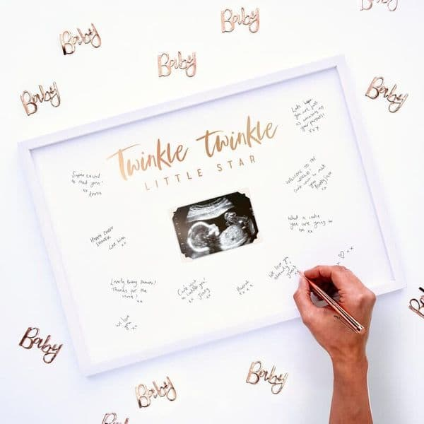 Twinkle Twinkle Baby Scan Frame Guest Book
