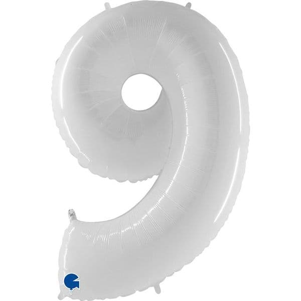 White Fluorescent Number Balloons