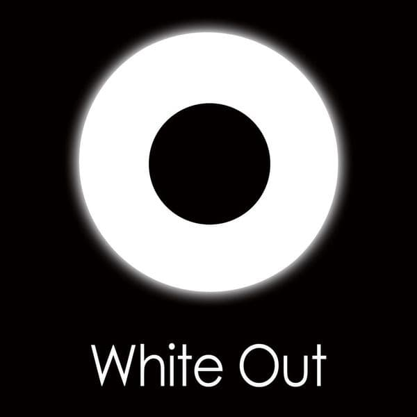 White Out Contact Lens